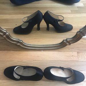 Amazing Prada Milano Vera Cuoio Black High Heels
